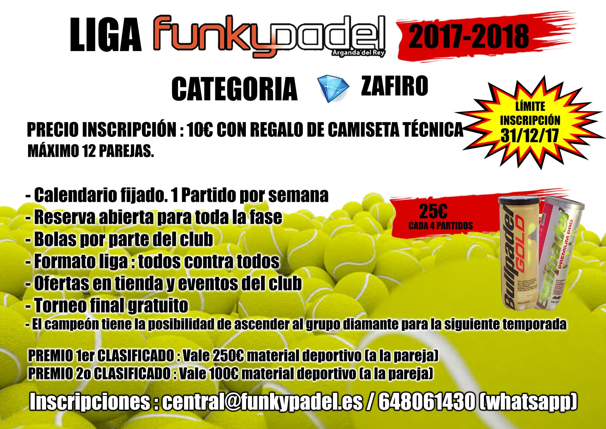 Cartel Liga Funky Padel